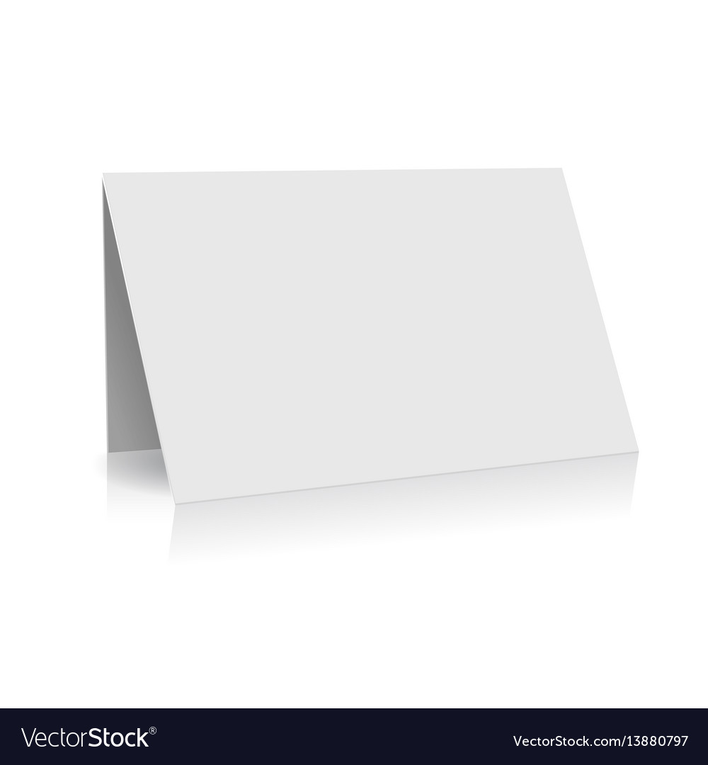 White folder paper greeting card template vector image