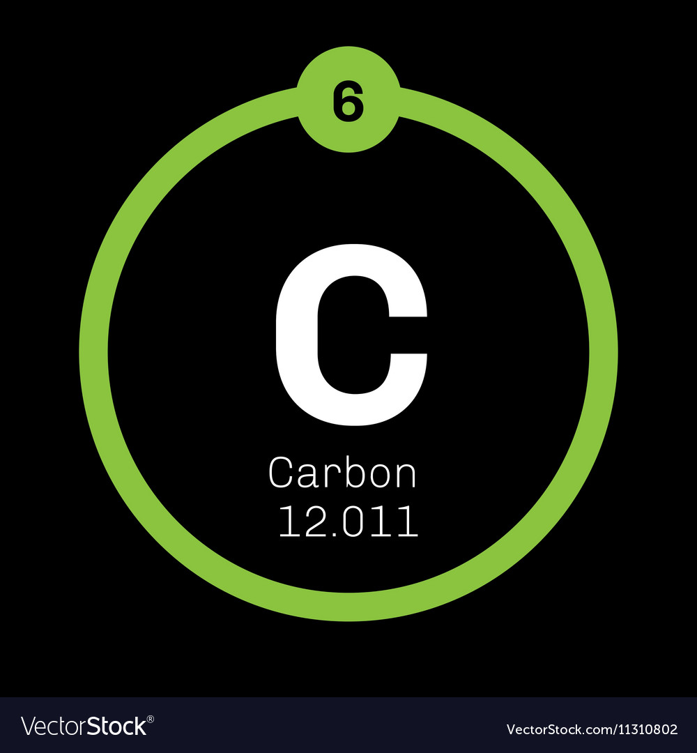 Carbon Chemical Element Royalty Free Vector Image