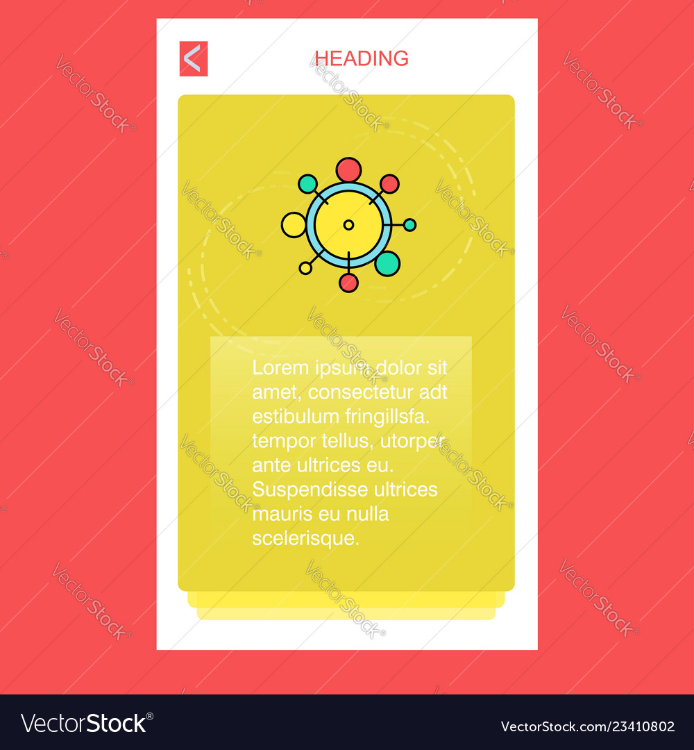 Chemical bonding mobile vertical banner design