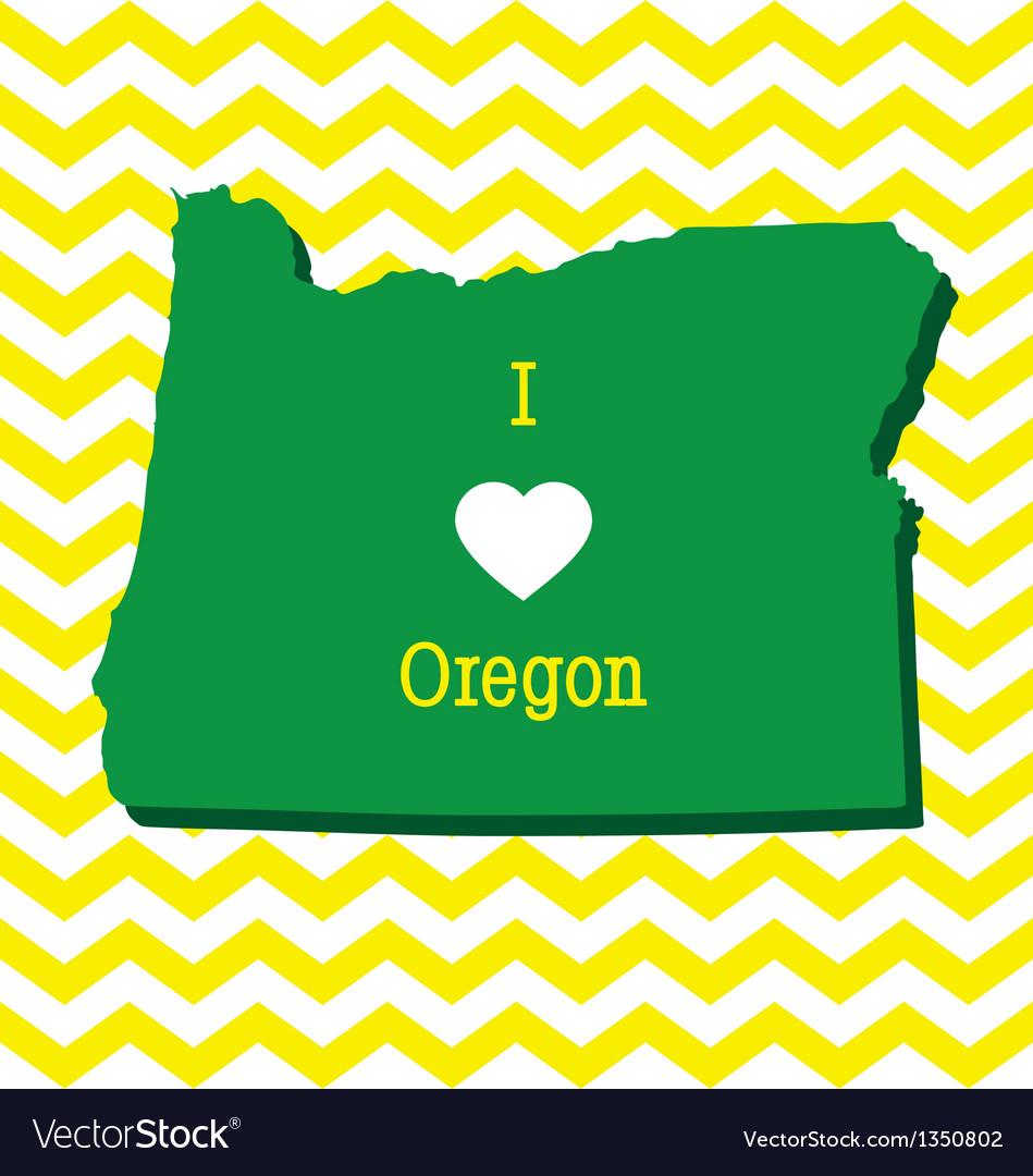 Cute yellow chevron I love Oregon card