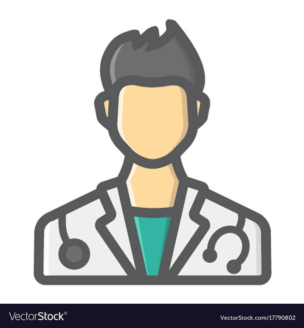 Doctor filled outline icon medicine healthcare vector image