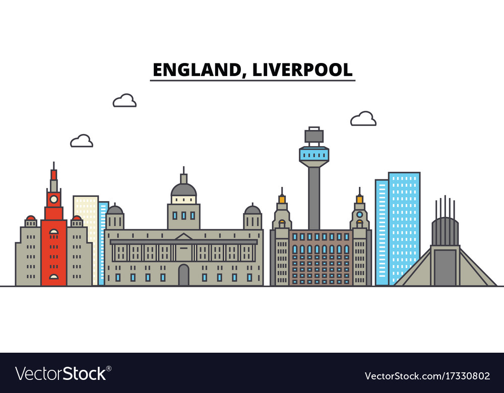 England liverpool city skyline architecture