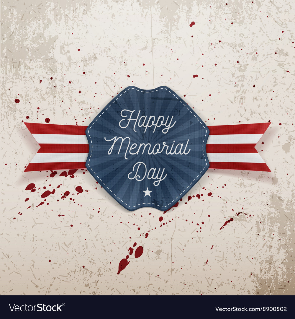 Happy Memorial Day patriotic Emblem with Text