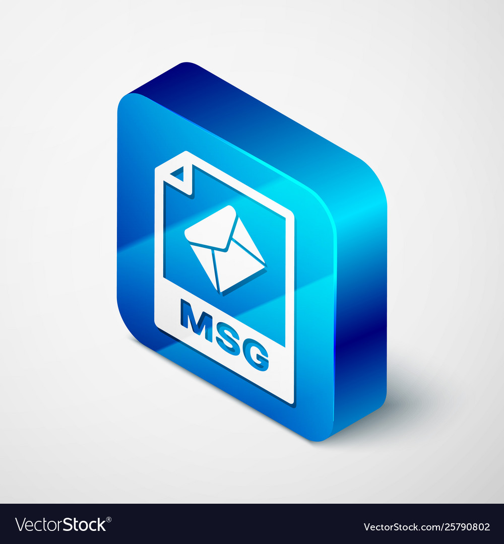 Isometric msg file document icon download msg