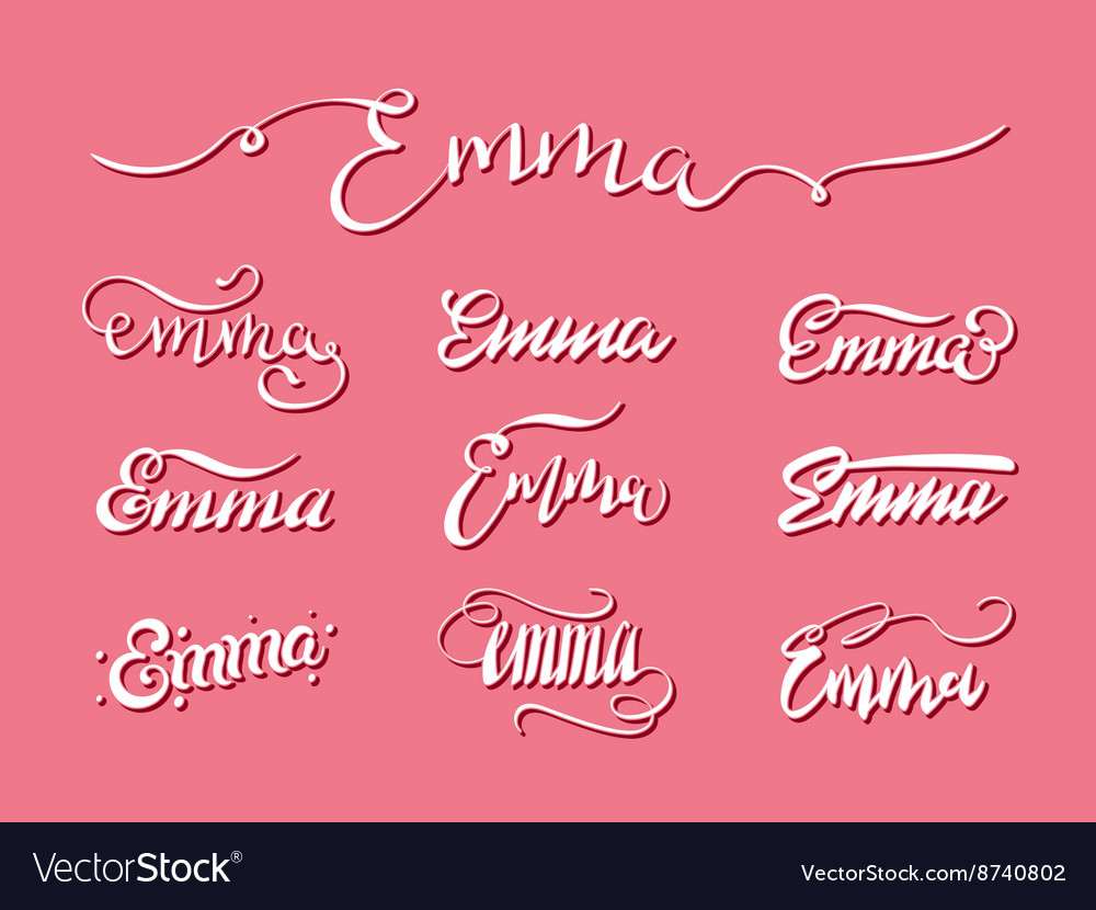 Personal name Emma vector image