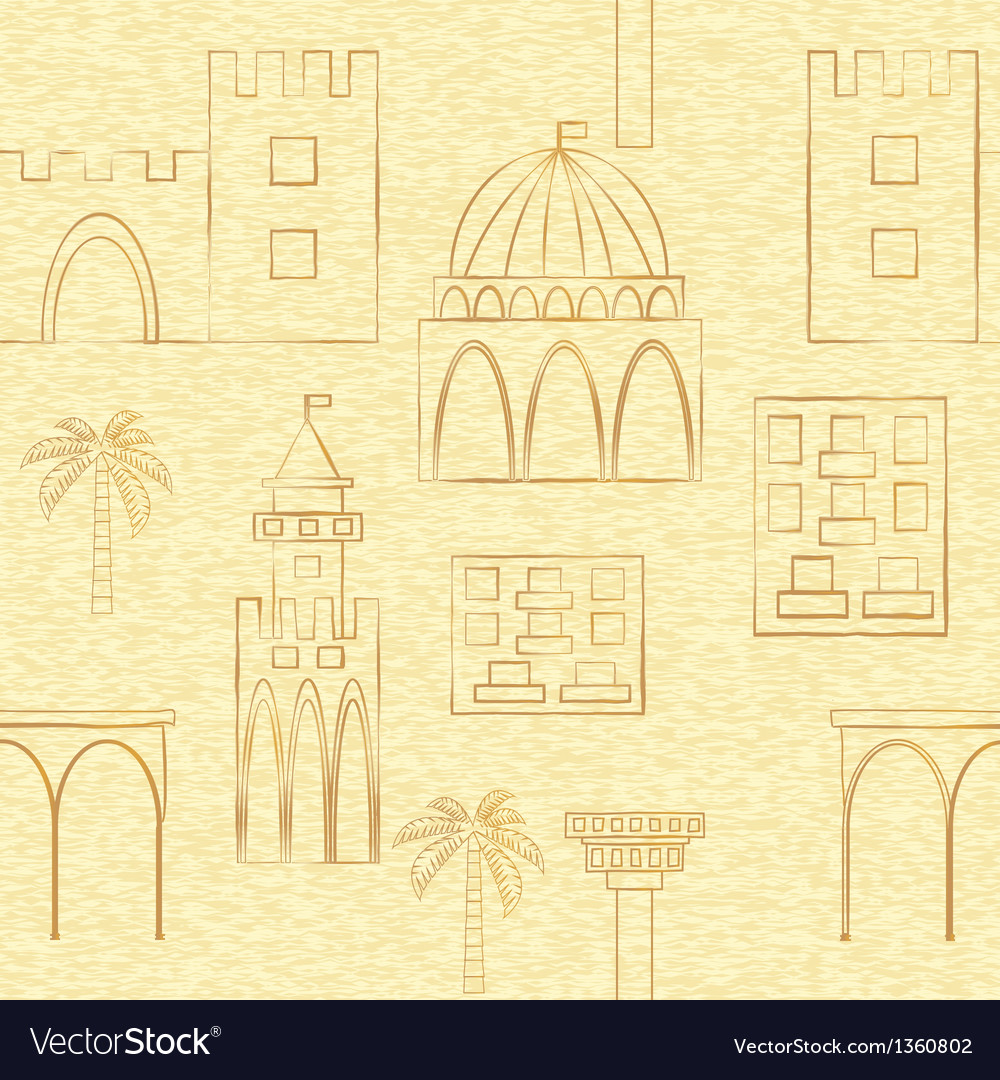Seamless backgroung with buildings vector image