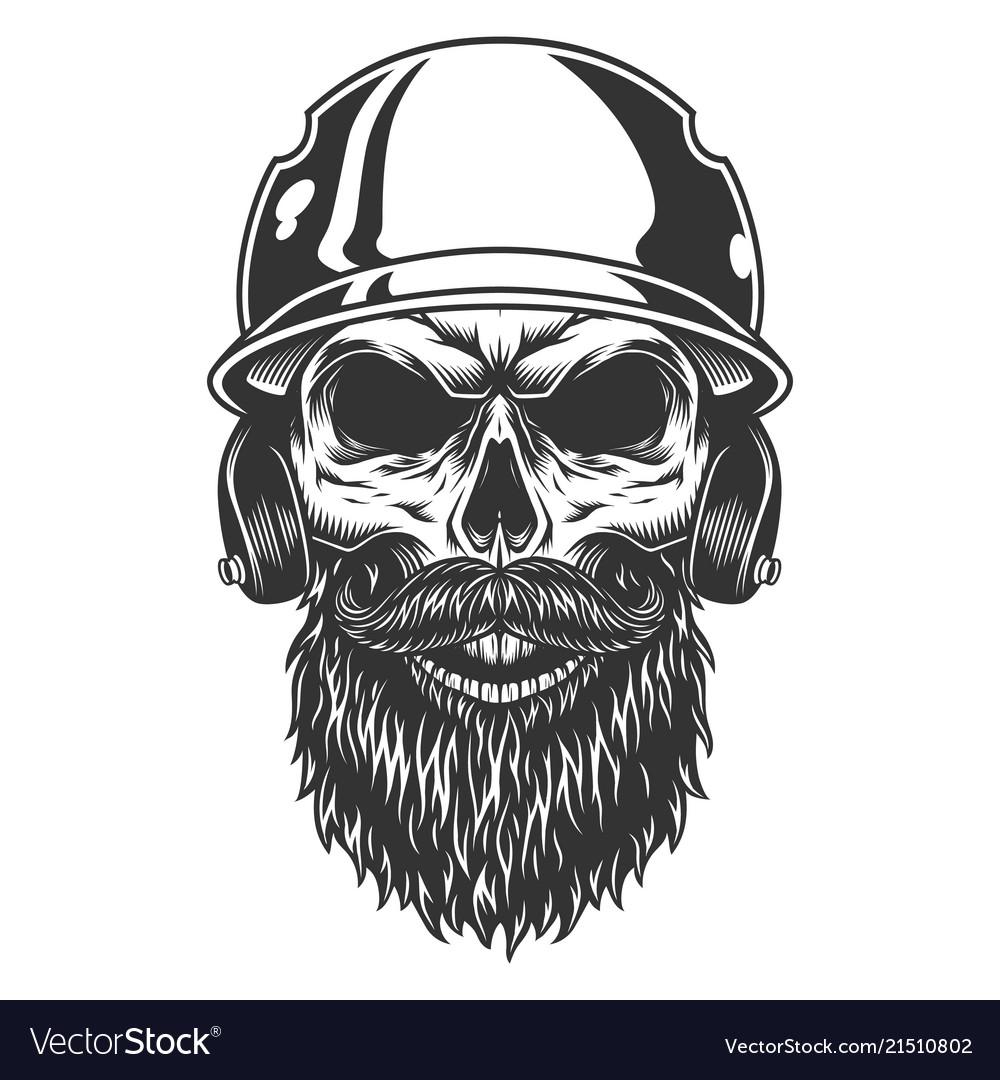 Skull in the baseball hat