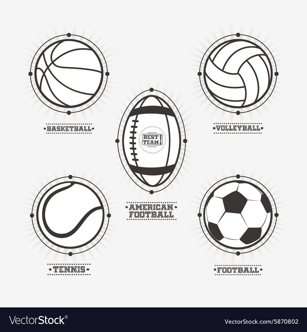 Sports balls logos emblem
