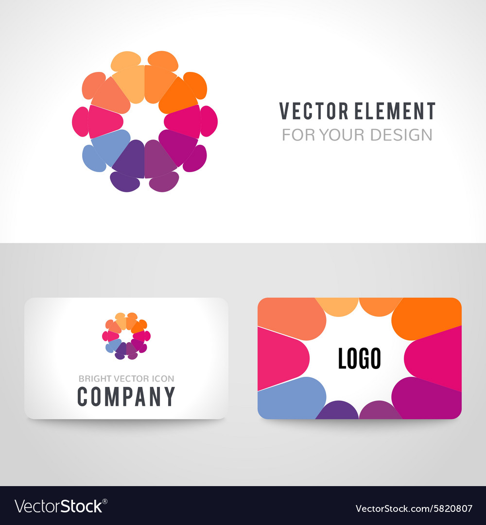 Abstract bright colorful communication logotype