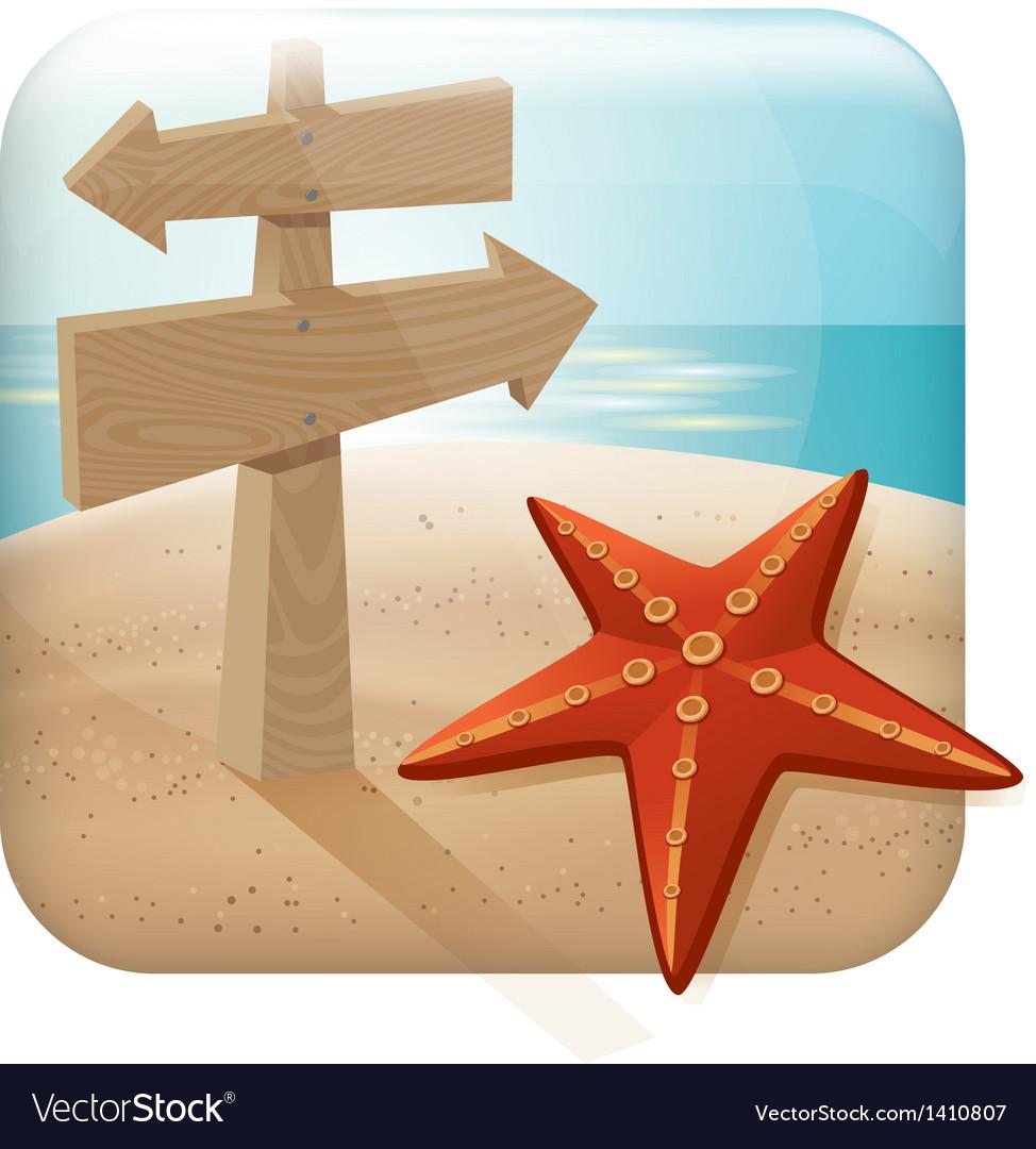 App icon for web applica vector image