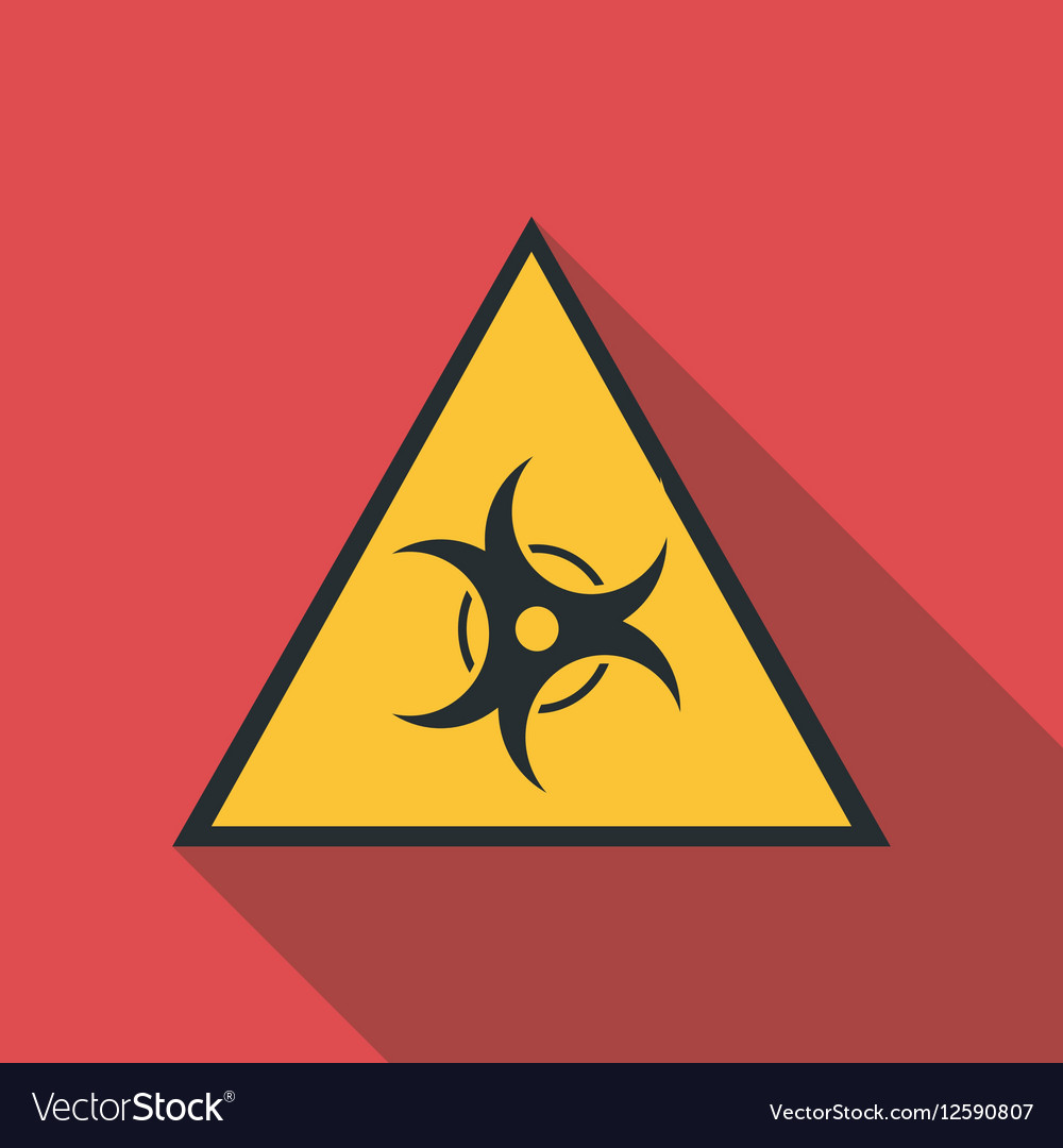 Biological threat icon flat style