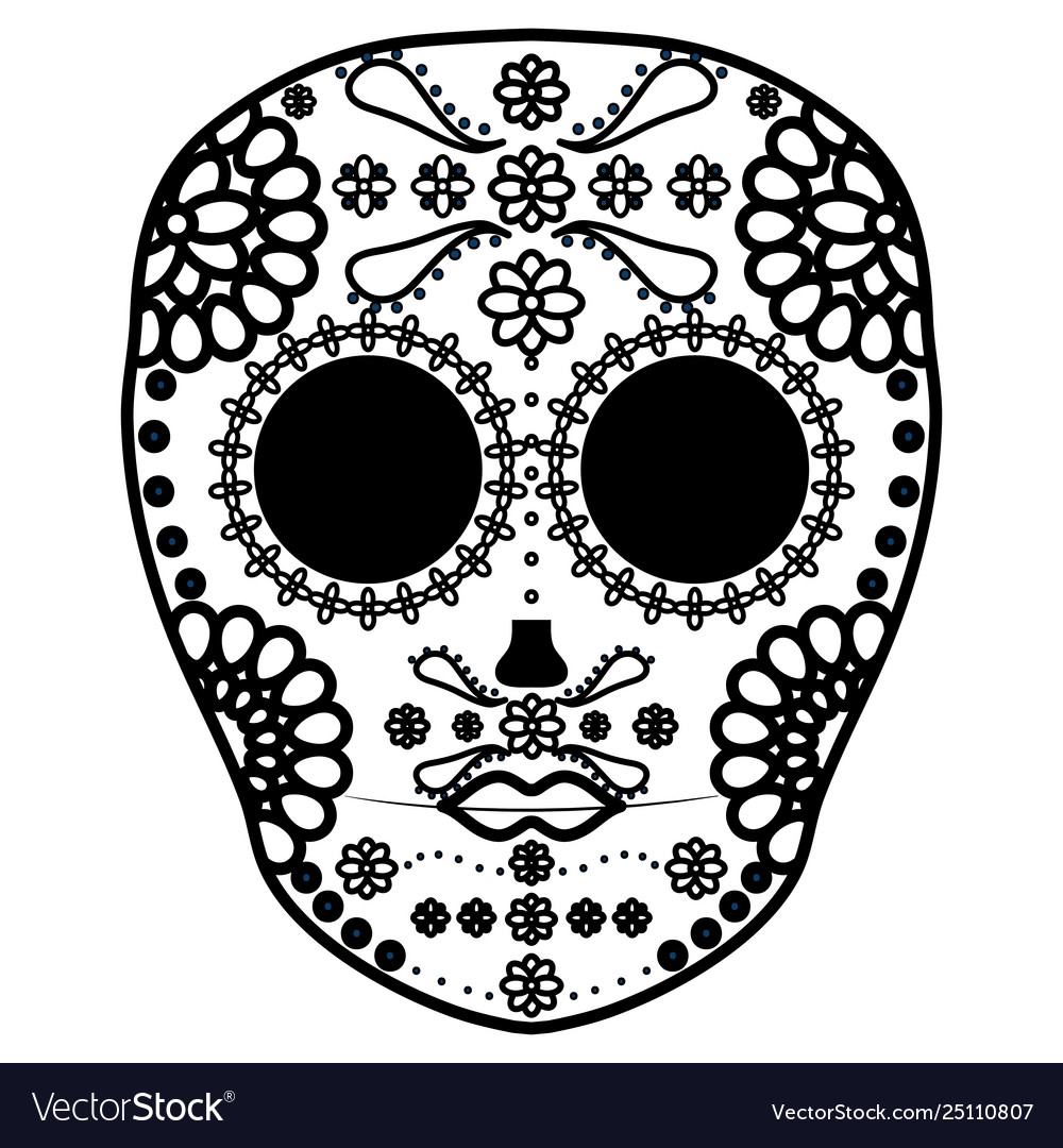Mexican skull death mask