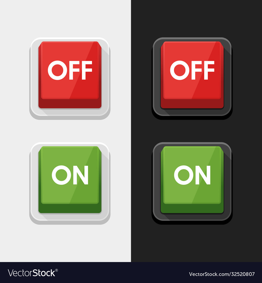 On - off switch power button symbol icon design