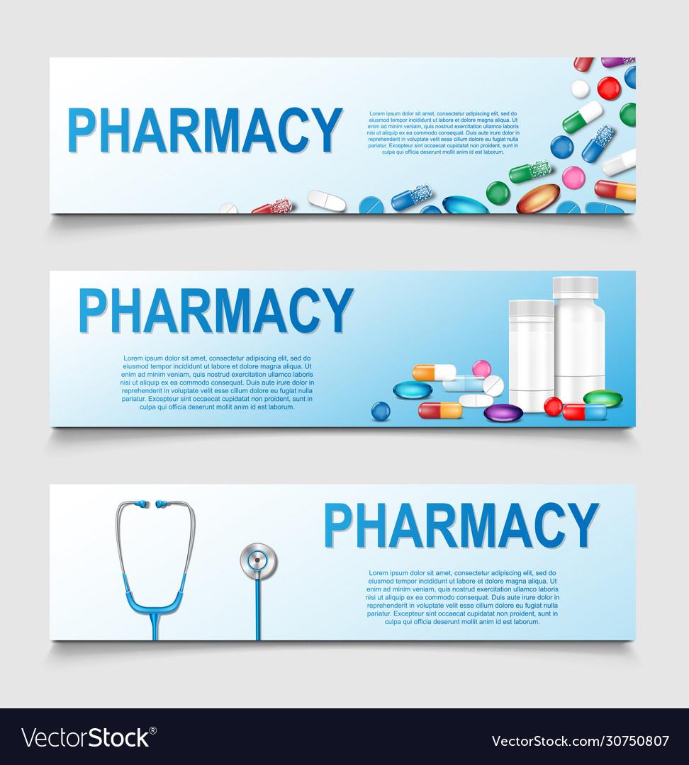 Pharmacy poster design banner for medical or