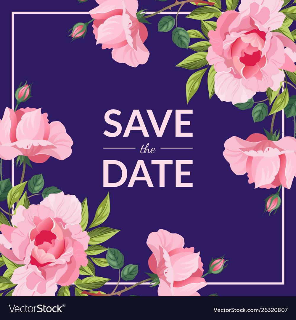 Save date wedding invitation card template
