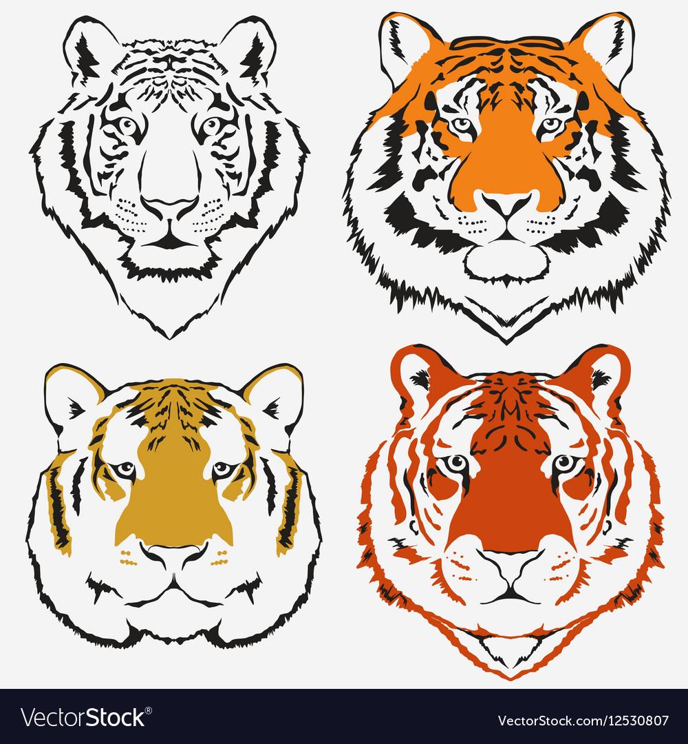 Tiger logo set