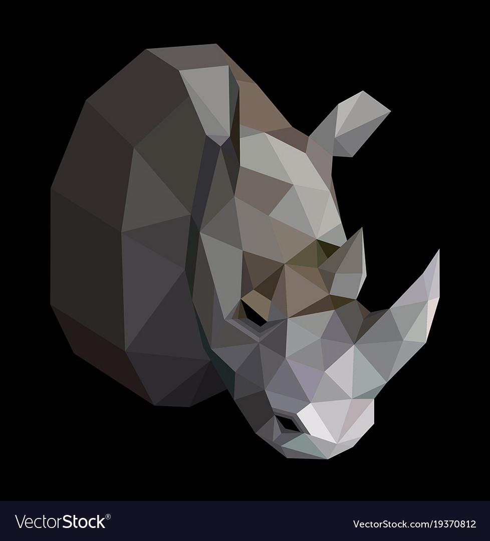 Geometric colored rhinoceros