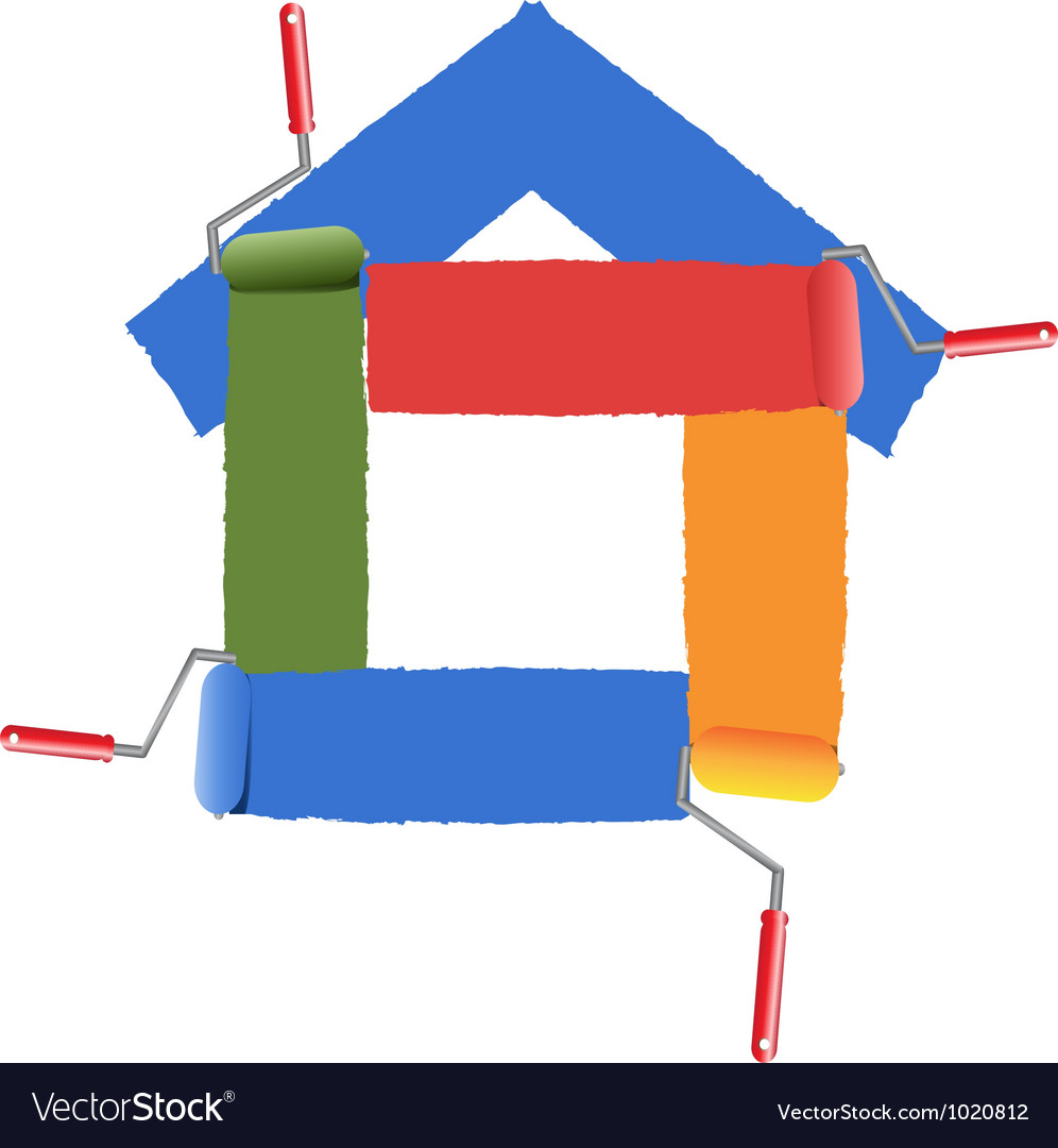 Painting the symbol of home vector image