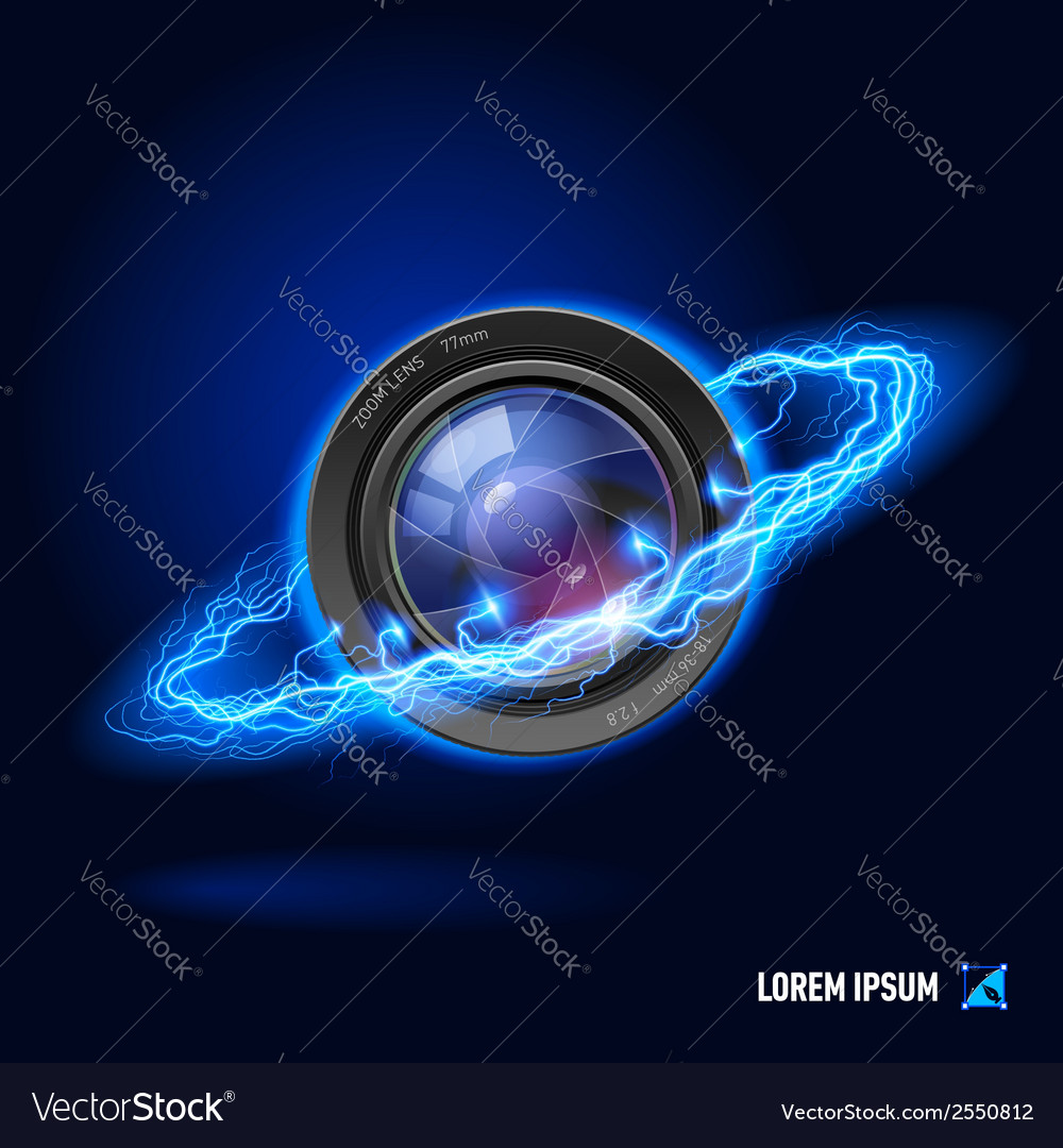 Photography high voltage vector image