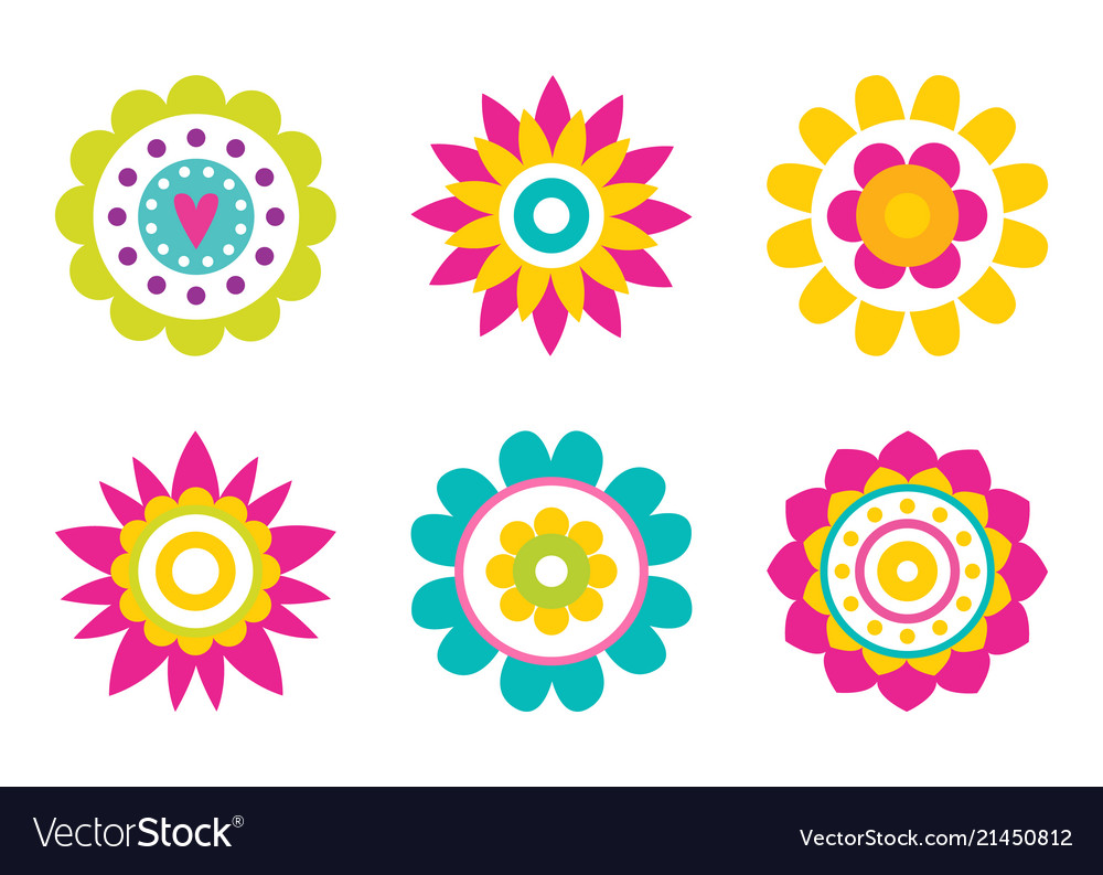 Round Simple Flowers