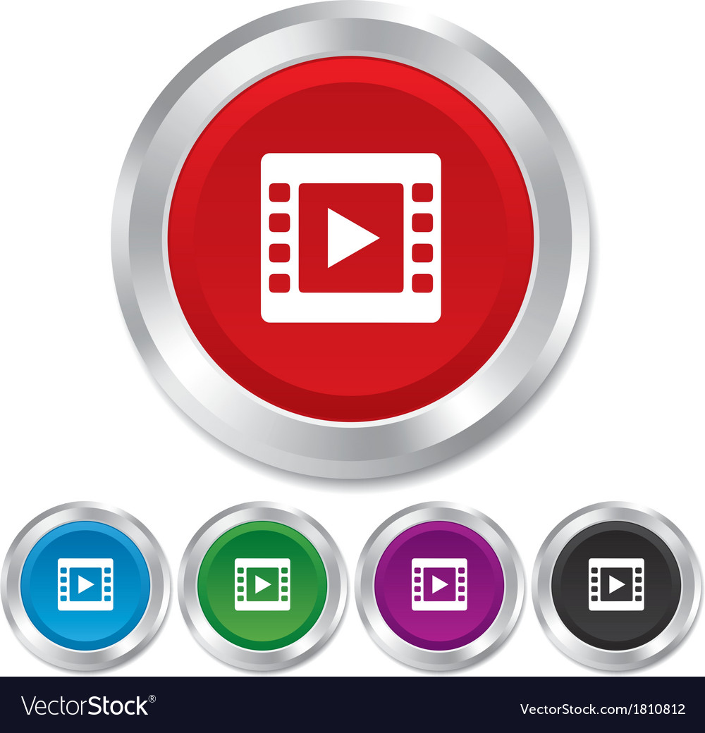 Video sign icon Video frame symbol Royalty Free Vector Image