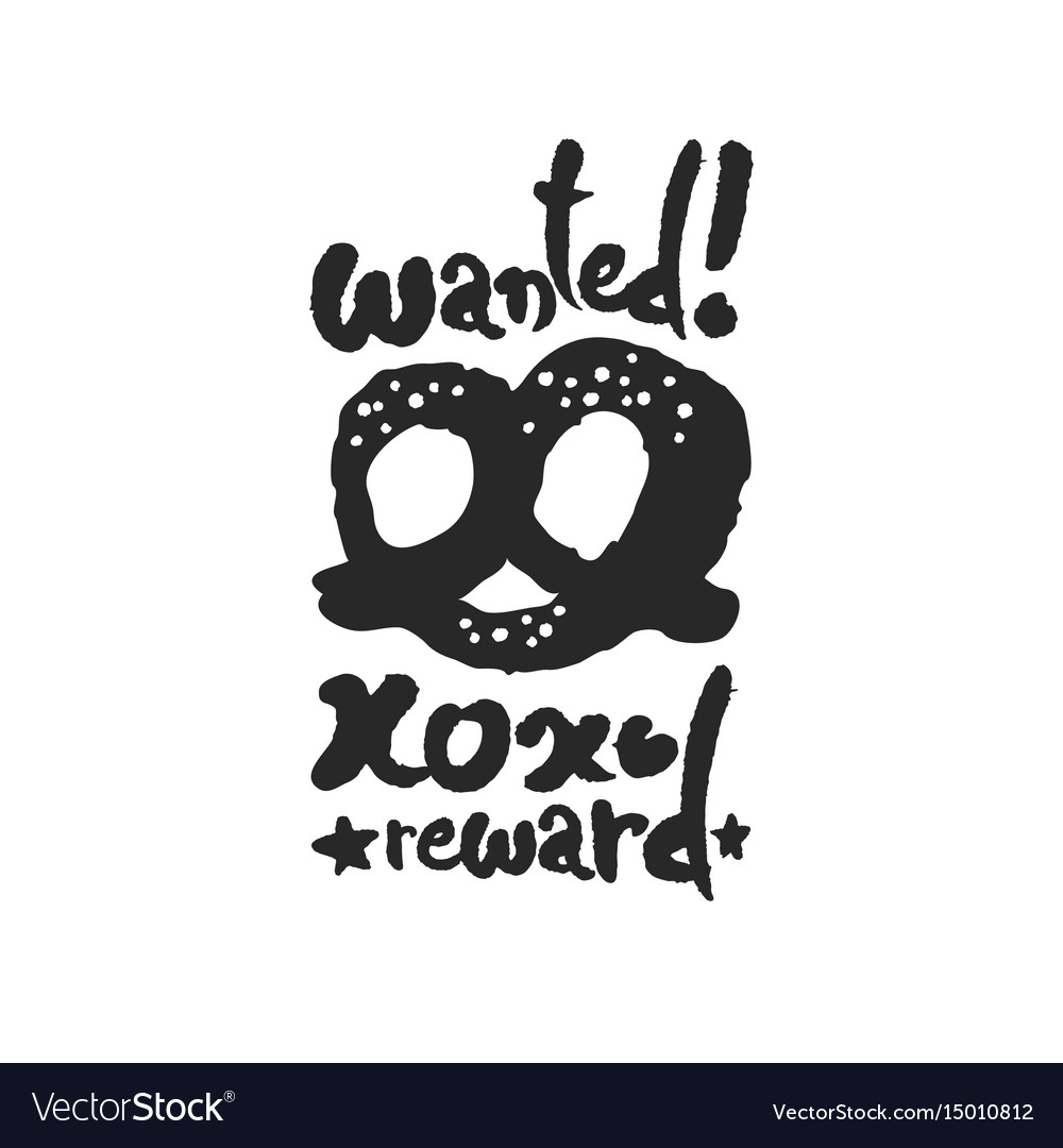 Wanted pretzel calligraphy lettering
