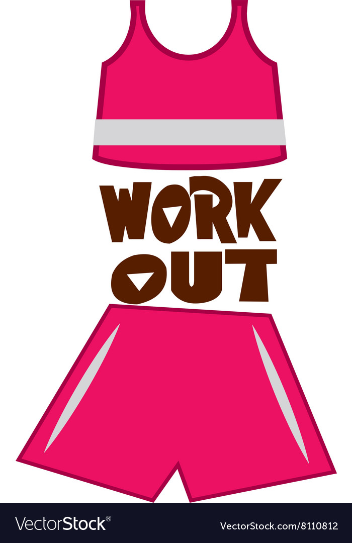 Work Out vector image