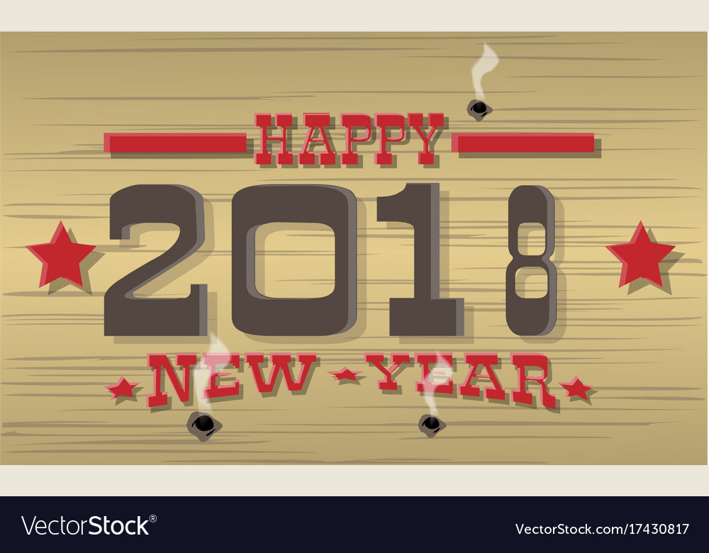 2018 happy new year western