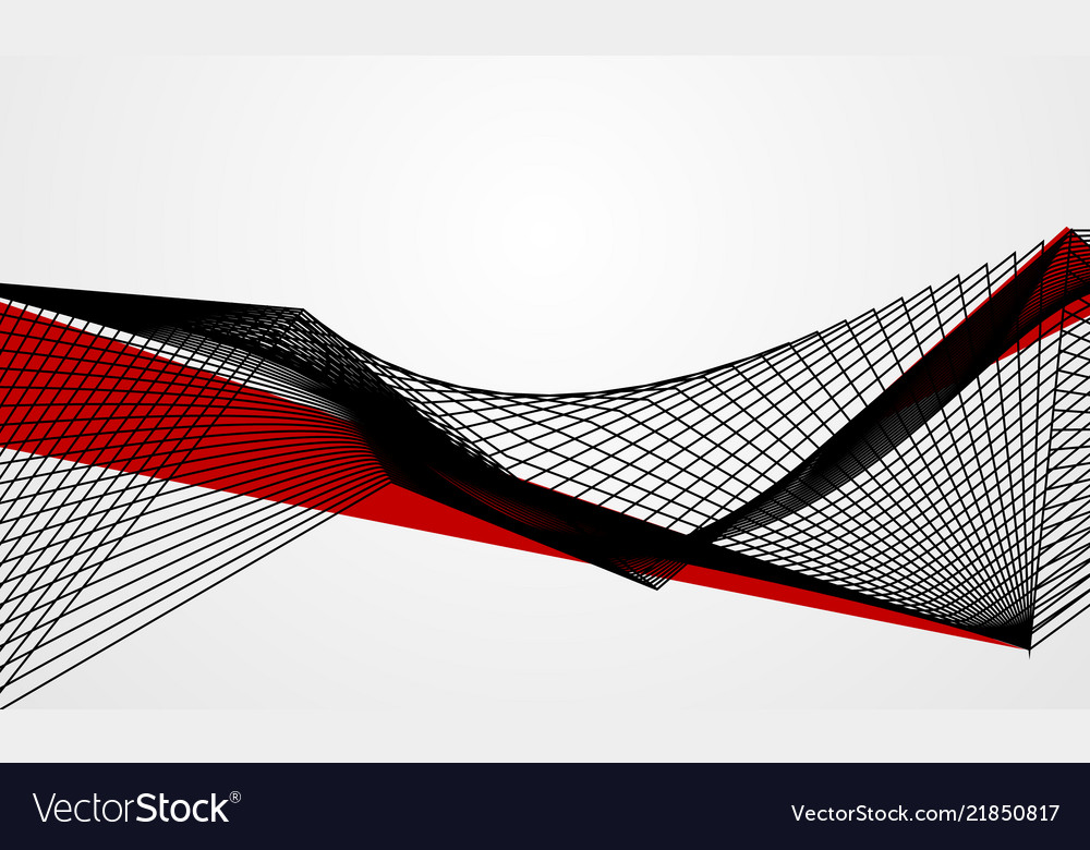 Abstract line red black background concept