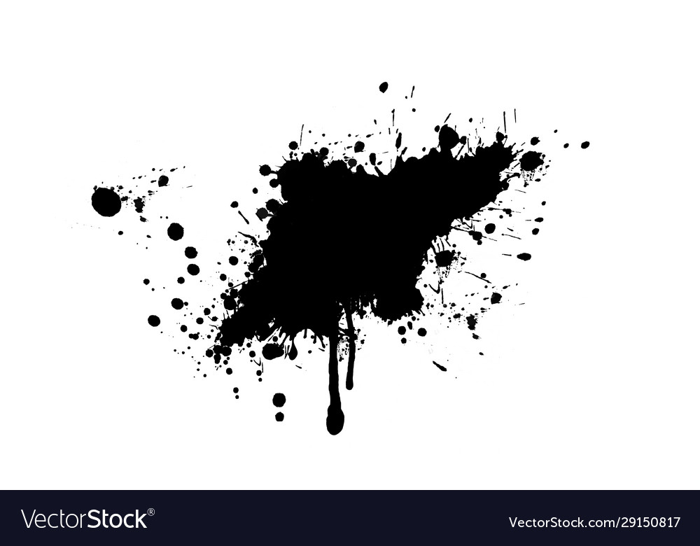 Black ink splash or drop