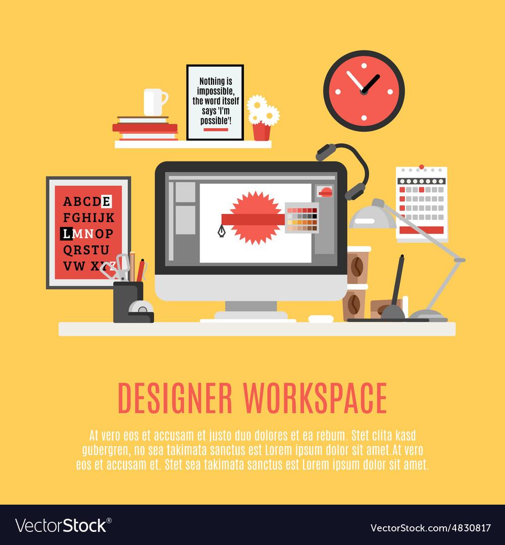 Designer Workspace vector image