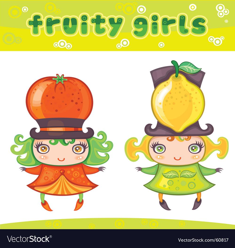 Fruity girls series 4 orange lemon
