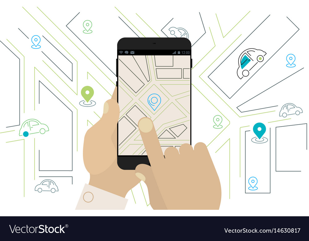 Mobile car sharing navigation location app