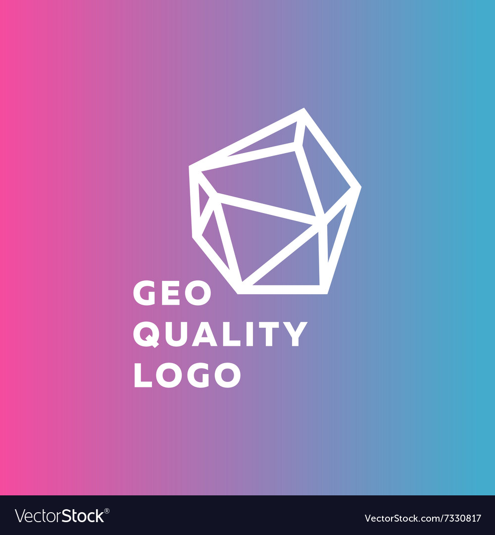 Outline gradient sign stone style trend in a line vector image