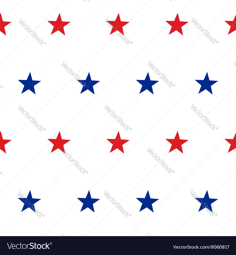 Patriotic American Seamless Pattern