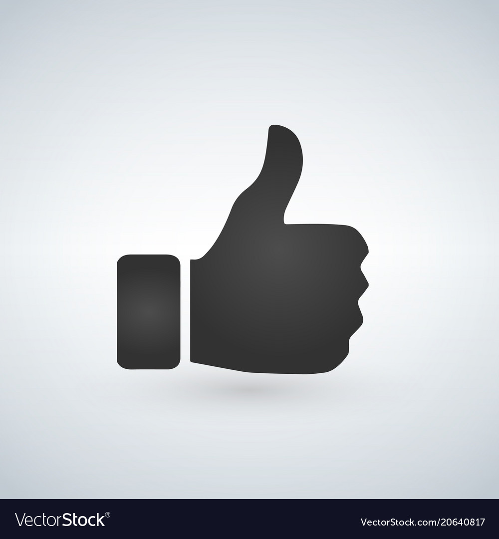 thumbs up like emoji for social media channels vector image rh vectorstock com thumbs up vector free thumbs up vector free