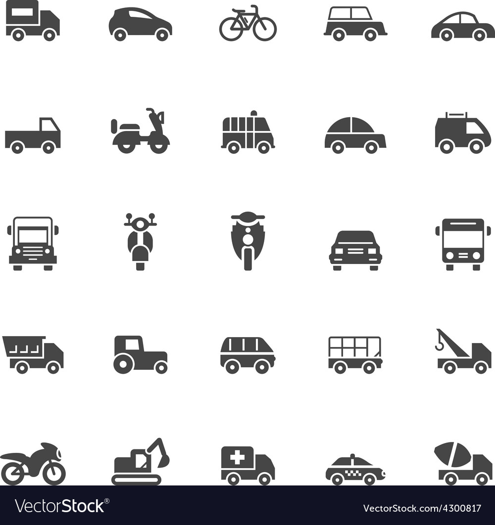 Transport icons on White Background vector image