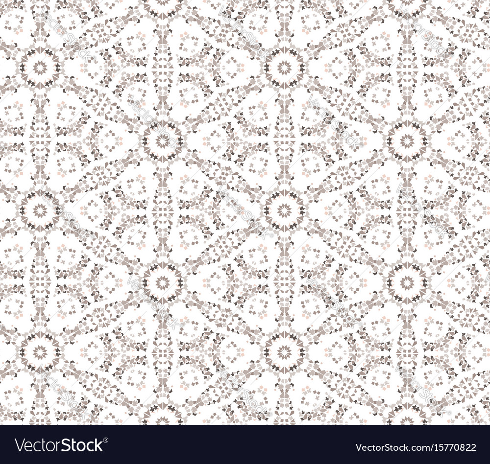 Abstract seamless pattern mosaic ornament floral