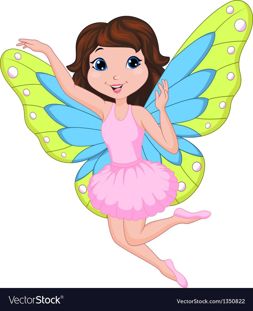 Beautiful fairy cartoon