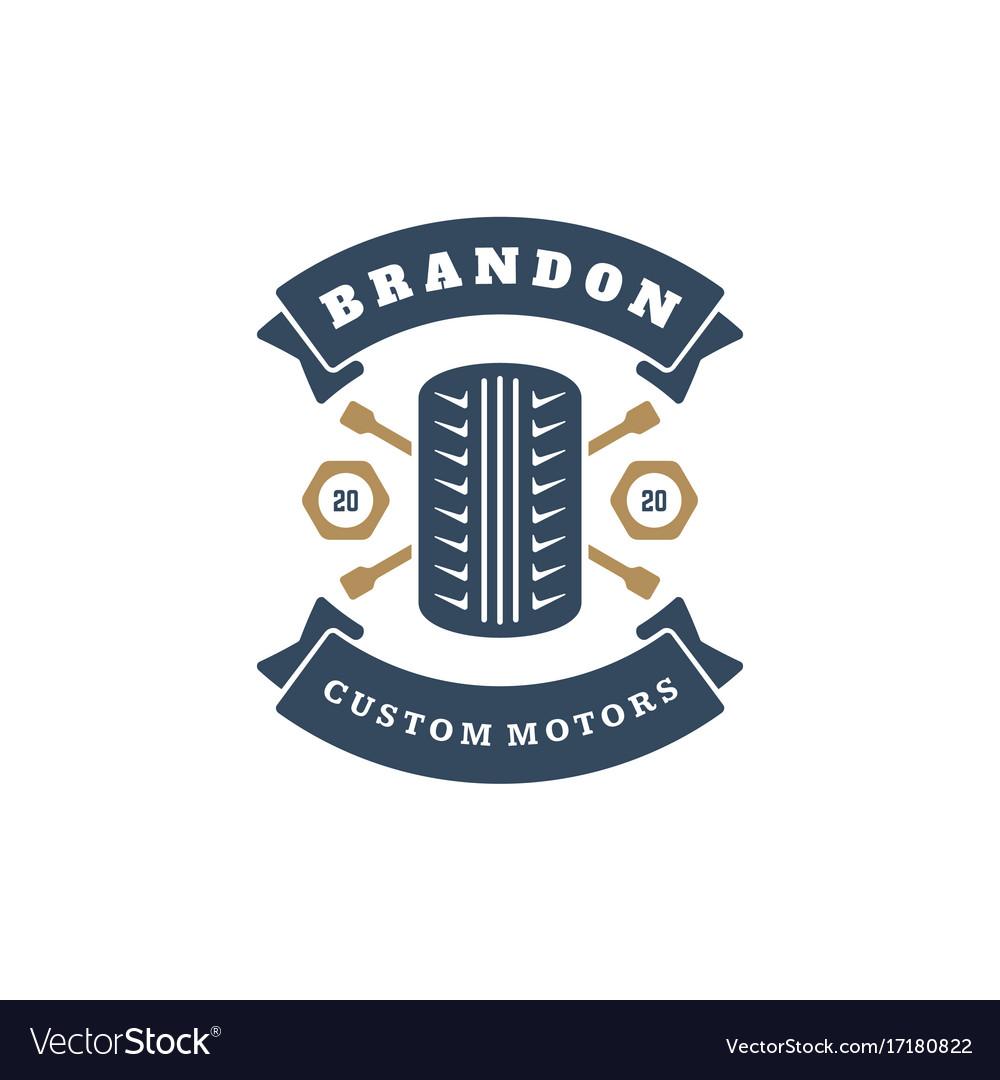 Car wheel logo template design element