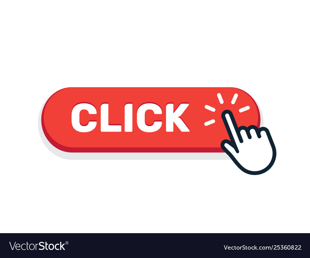 Click here button with hand icon click web