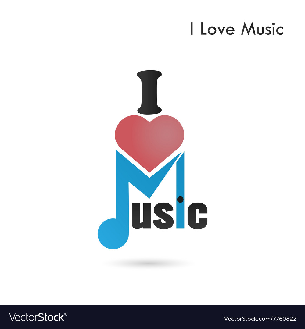 Creative music note abstract logo design