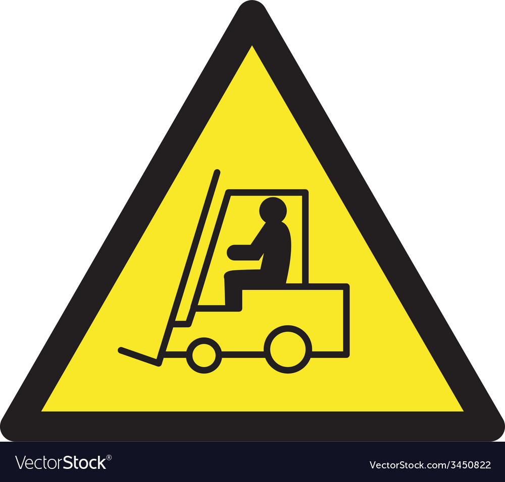 Danger Forklift Trucks Safety sign