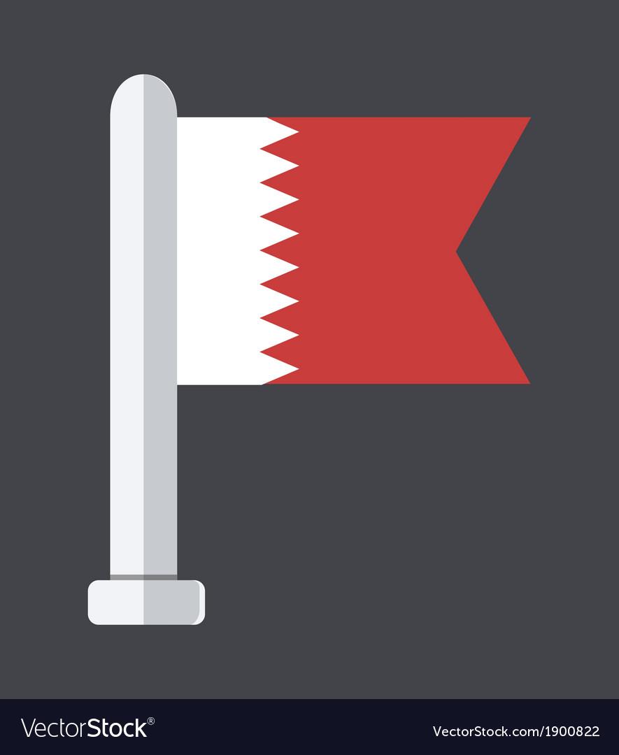 Flat modern flag on sample background