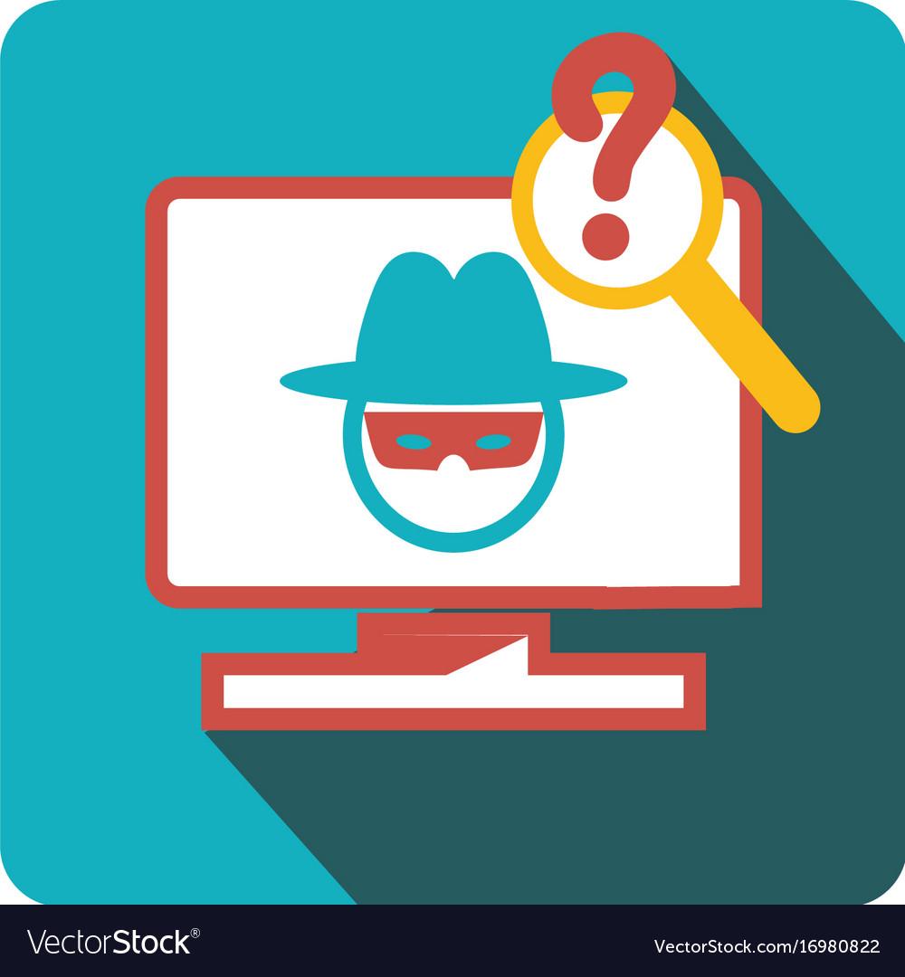 Icon virus hacker vector image