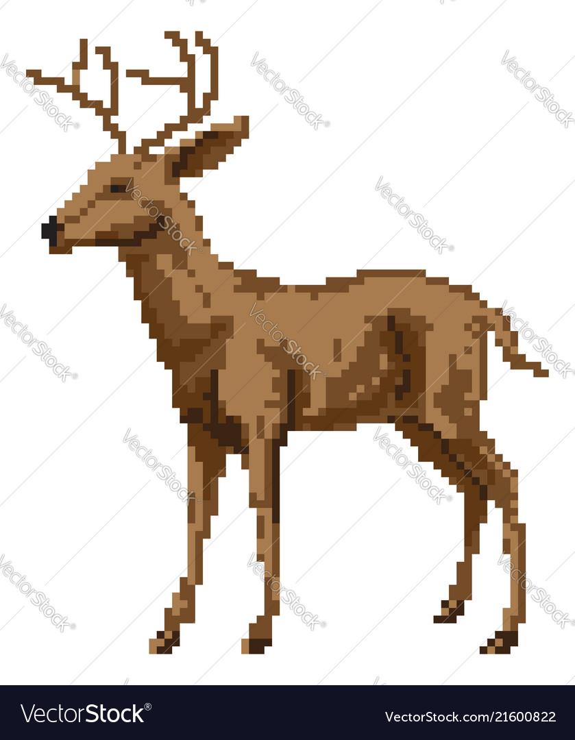 Pixel art deer