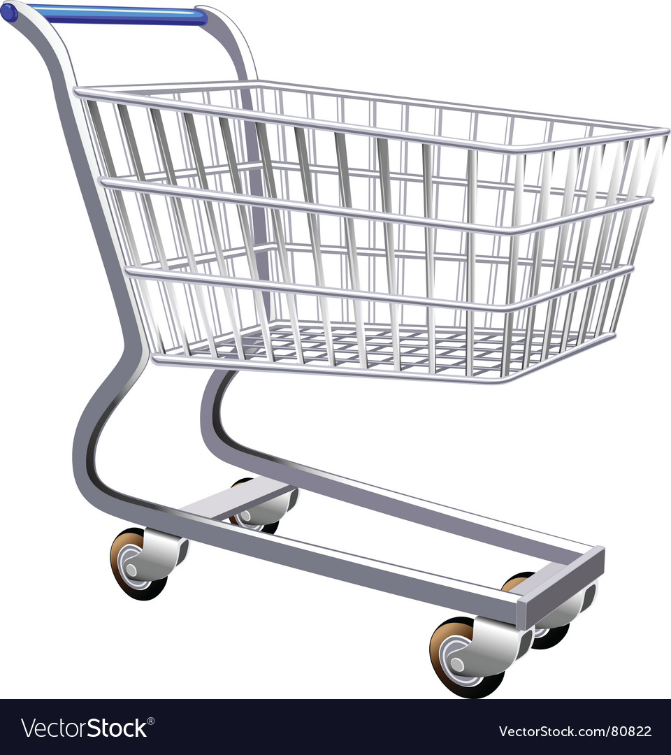 Stylized shopping cart