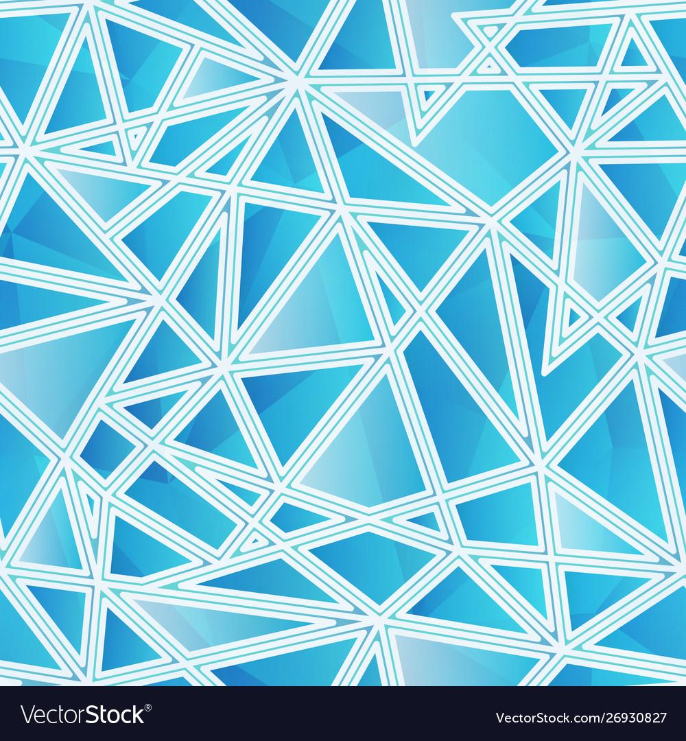 Blue triangle pattern