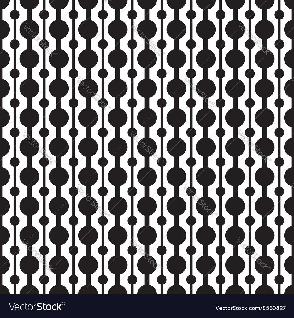 Classic circle geometric seamless pattern vector image
