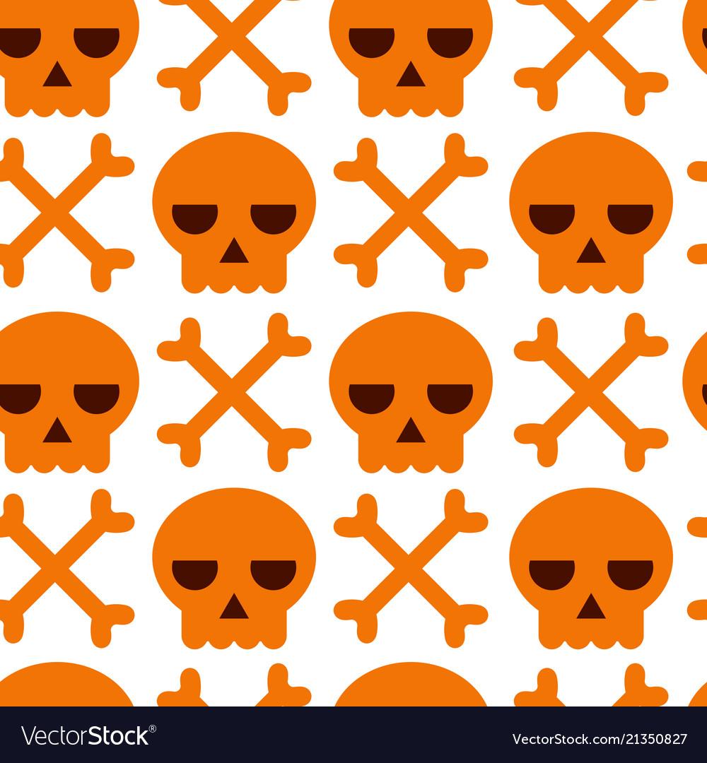 Danger warning skull and bones background